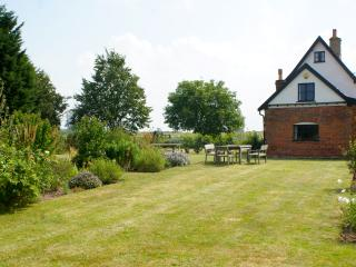 The garden and a side view of Le Grys farmhouse