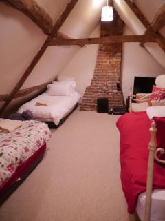 The attic 3 single beds