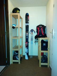 Storage room in the hall