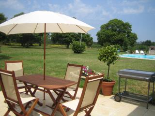 Le Manoir - The Gite - patio with large BBQ