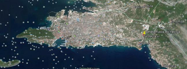 Distance between Apartment and centre of Split