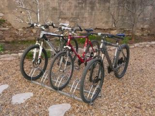 New for 2015 - 3 mountains bikes for adults available for hire. Great for on and off-road trails.