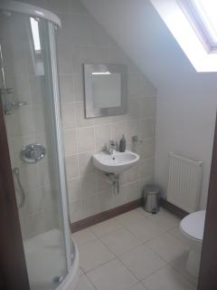 Two modern ensuite shower rooms