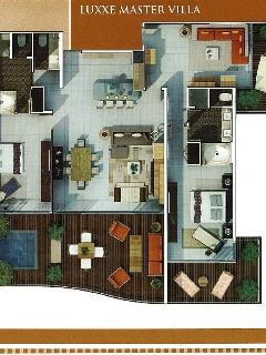 Floor plan of the Grand Luxxe Master Villa