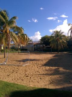Soccer court on premises.