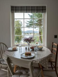 View of Loch Knockie from the kitchen window