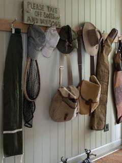 Lots of hanging space for outdoor weather gear.