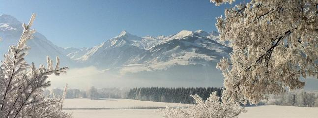 View of Kitzsteinhorn in Winter from Zell am See