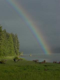Cassiar Cannery - rainbow - beautiful in any light