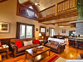 3BR Timber Style Cabin, Hot Tub, Foosball, Pool Table, Leather Furniture, Granite Counters, Flat Screen TVs, Zionville