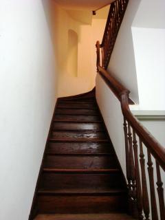 Classic brownstone hallway