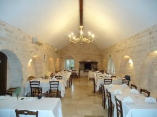 typical restaurant in Masseria, Valle d'Itria, just 30 minutes drive