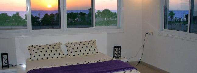 Bed room with spectacular sunset