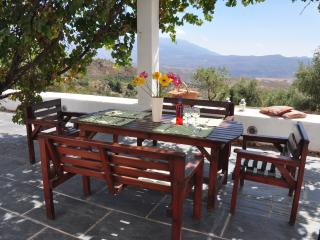 Outdoor dining on the terrace with more spectacular views of the Alpujarras