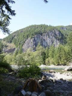 Skykomish River and firepit