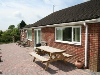 Patio area to the rear of the bungalow