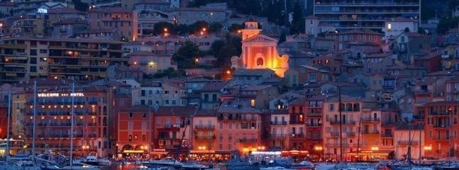 Magical Villefranche lit up like a fairytale at night