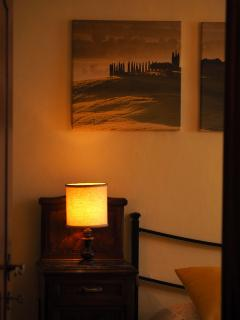 Detail of Pienza room by night