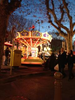 Carousel for chlldren in old town of Antibes