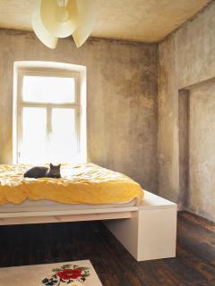 bedroom on second with big bed. photo: Juta Kübarsepp