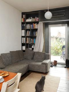 living room with a cat. photo: Juta Kübarsepp
