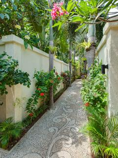 Villa Sea-Blooming walkway to the villa