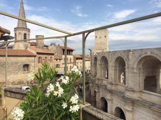 Duplex de charme, terrasse, vue sur les arenes, Arles