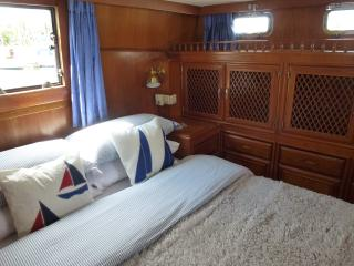 Double aft-cabin with plenty of hanging and storage space