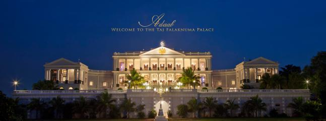 The Taj Falaknuma Palace- former residence of the Nizam, once considered the world's richest man