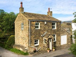 HOLME HOUSE COTTAGE, 17th century, stone-built, woodburner, parking, garden, in Haworth, Ref 919042, Laycock