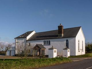 OLD CHAPEL, detached chapel conversion in ten acres, 8ft high church windows, woodburner, WiFi, near Clovelly, Ref. 919297