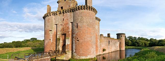 Caerlaverock Castle, Glencaple, nr Dumfries. Scotland's only triangular castle!