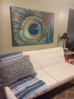 Easy to open futon in living room