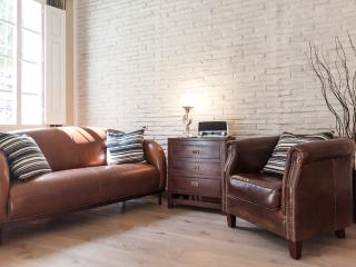 Leather sofa and armchair in the living room