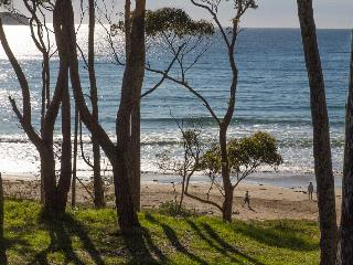 Tranquil views overlooking Denham's Beach from the balcony
