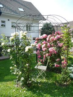 La gloriette et ses fleurs