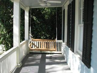 Double Front Porches with swings and overhead fans