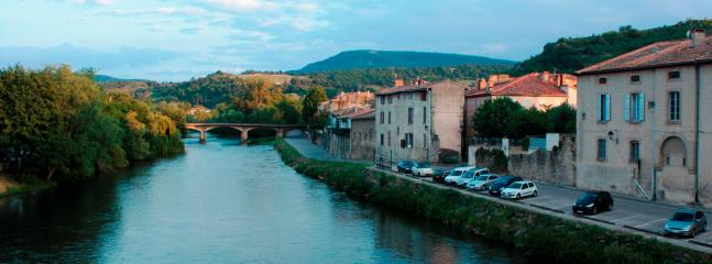 Have a stroll along the river Aude and enjoy the beautiful setting of Limoux