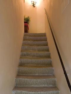Casa Teresa,stone staircase