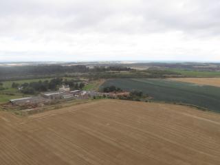Overhailes Farm in a beautiful landscape.