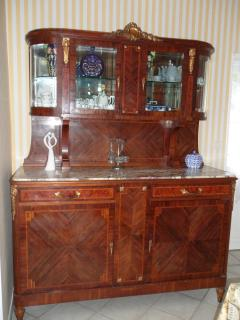 The beautiful French dresser with lots of lovely treasures on display in Chataigne House
