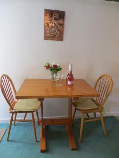 Romantic meal for two at cosy Crumplehorn Cottage No1 with wine and flowers