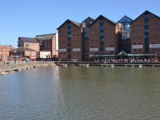 Gloucester Docks has now been transformed into a Busy,Vibrant area  attracting many visitors.