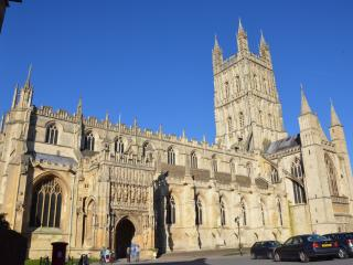 Gloucester Cathedral which is a 10 minute walk from the Docks,this is a must see on your list
