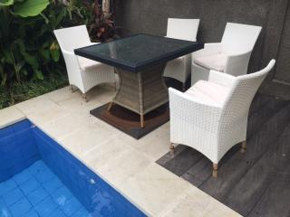 Outdoor pool setting