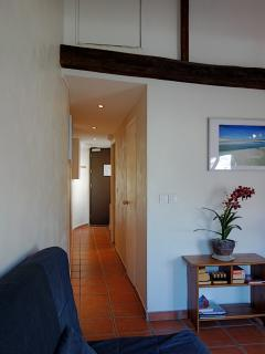 The corridor towards the room