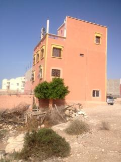 The house perched on top of the village, Tamraght, Morocco