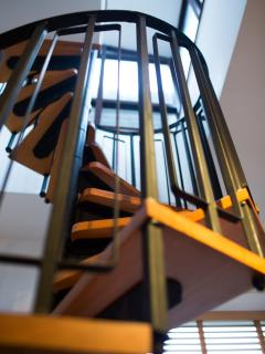 Spiral Staircase with Small Conservatory Leading to Roof Terrace