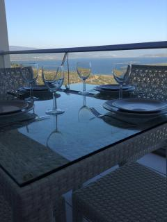 Enjoy alfresco dining on the balcony