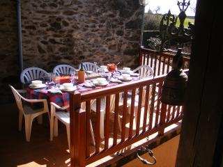 Dining for 8 on the balcony